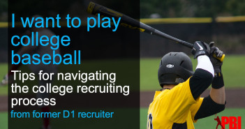 Tips for getting recruited to play college baseball